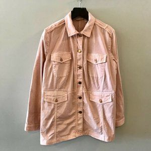 Chicos Military Utility Jacket Pink 3 XL / 16